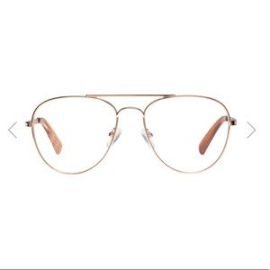 rose gold aviator blue light glasses